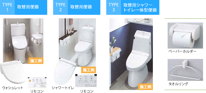 便器・便座|Type1~3