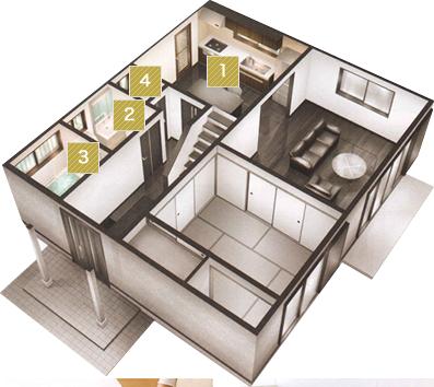 2 システムキッチン(I型255cm)|1~4